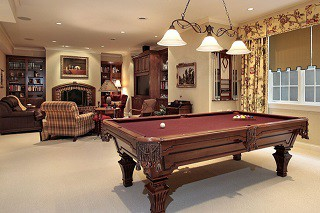 Pool table assembly with perfect leveling in Elmira content img3